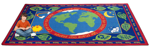 Earth Educational World Rug
