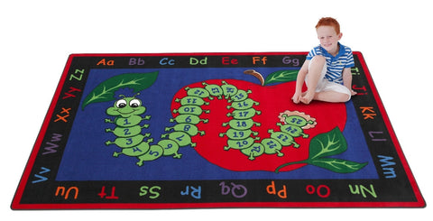 Learn With Inchworm Rug