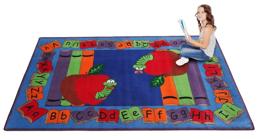 Let's Book It Story Rug - KidCarpet.com