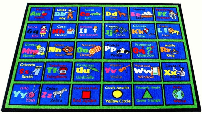 learning spanish classroom rug
