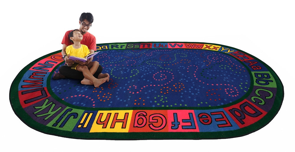 Alpha Dots Circle Time ABC Rug - KidCarpet.com