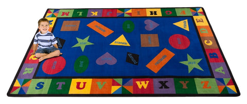 Colorful Shapes Rug With BRIGHT Colors