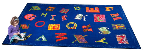 Patchwork ABC Rug BRIGHT