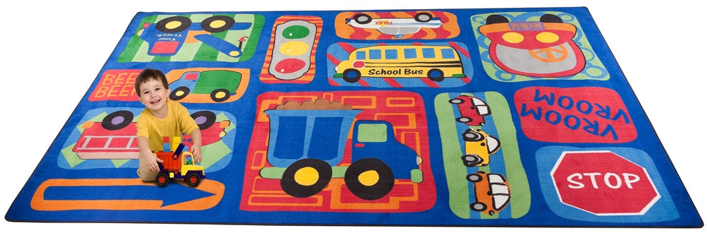 Vroom Vroom Car Play Rug - KidCarpet.com