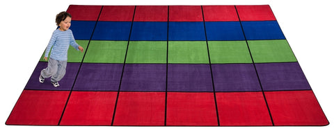 Blocks Seating Rug MULTI With 30 Squares