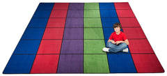 Blocks Seating Rug MULTI With 36 Squares