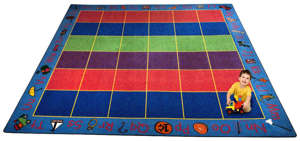 ABC Rainbow Seating Rug 36 - KidCarpet.com