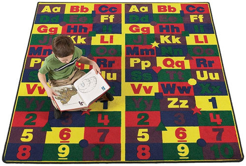 ABC 123's Educational Wall to Wall Carpet - KidCarpet.com