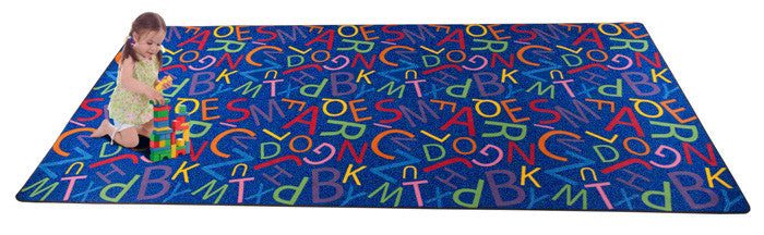 Colorful Letters Alphabet Carpet for Kids Wall to Wall - KidCarpet.com