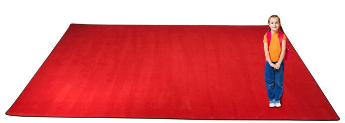 Kid-tastic Solid 30 oz. Cherry Red Kids Carpet Wall to Wall - KidCarpet.com