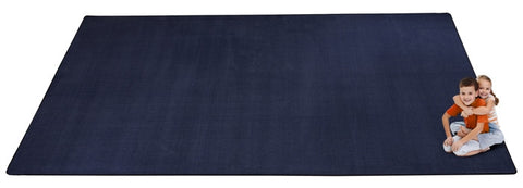 Kid-tastic Solid 30 oz. Dark Blue Kids Carpet Wall to Wall