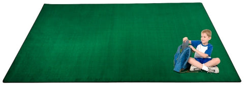 Kid-tastic Solid 30 oz. Green Kids Carpet Wall to Wall
