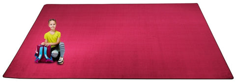 Kid-tastic Solid 30 oz. Magenta Kids Carpet Wall to Wall