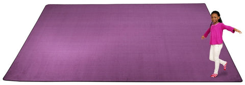 Kid-tastic Solid 30 oz. Purple Kids Carpet Wall to Wall