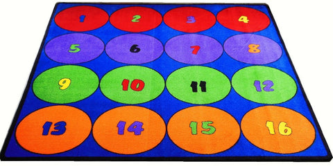 Seating Circles Classroom Rug With 16 Seats