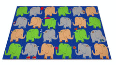Elephant Seating Classroom Rug Bright