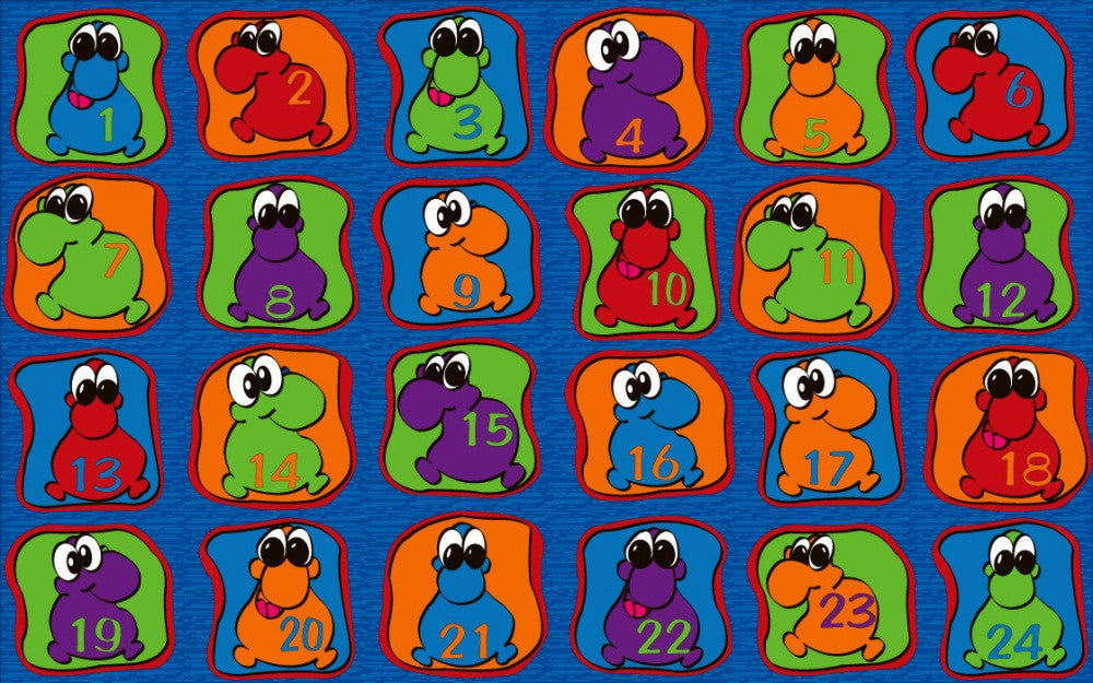 Cute Little Creatures Seating Rug - KidCarpet.com