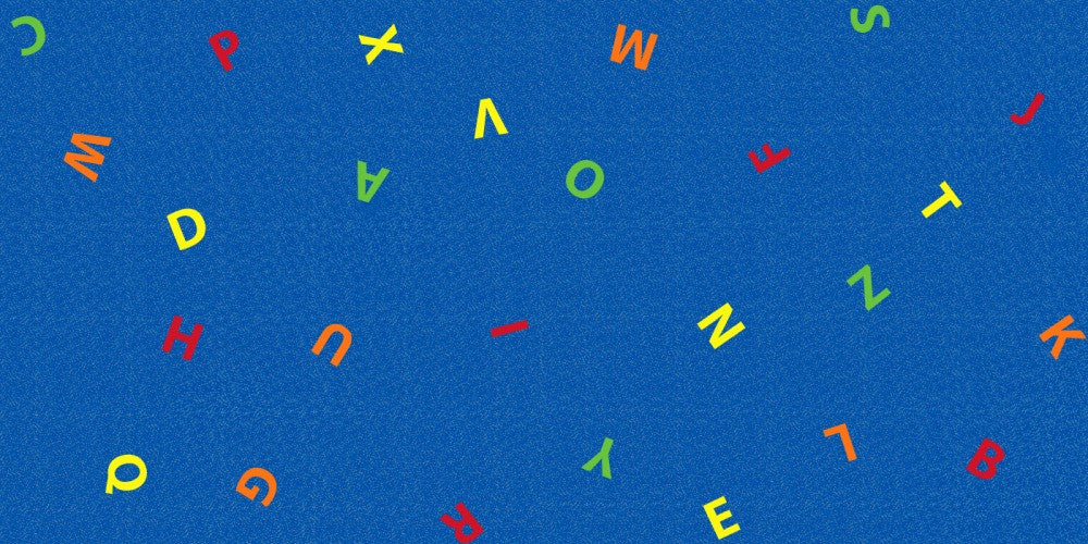 Scattered Letters Children's Wall to Wall Carpet - KidCarpet.com