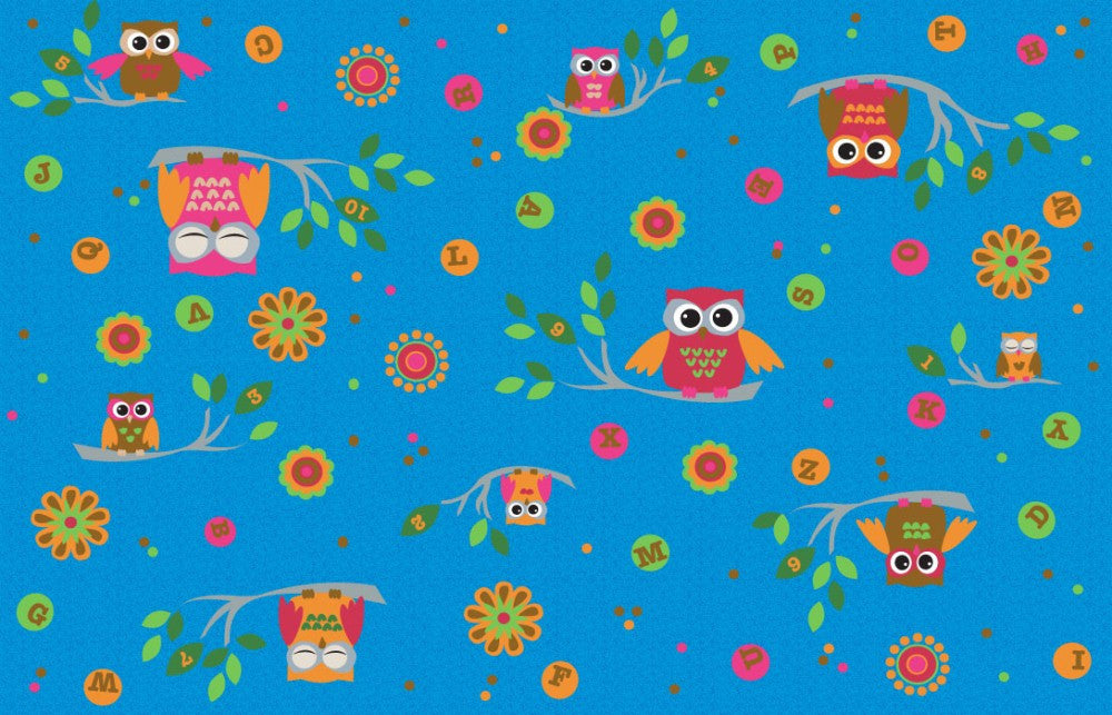 *HOT SALE* Counting Owls With ABCs Children's Rug - KidCarpet.com
