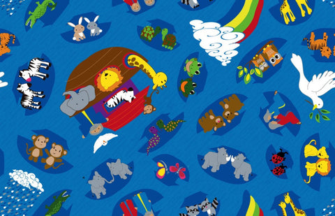 Noah's Animal Friends Wall to Wall Carpet