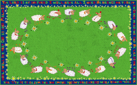 Little Lambs of God Circle Time Rug