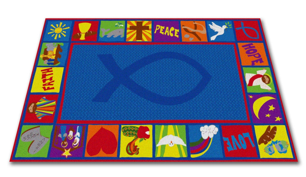 Bible Squares Christian School Rug - KidCarpet.com