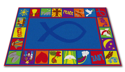 Bible Squares Christian School Rug