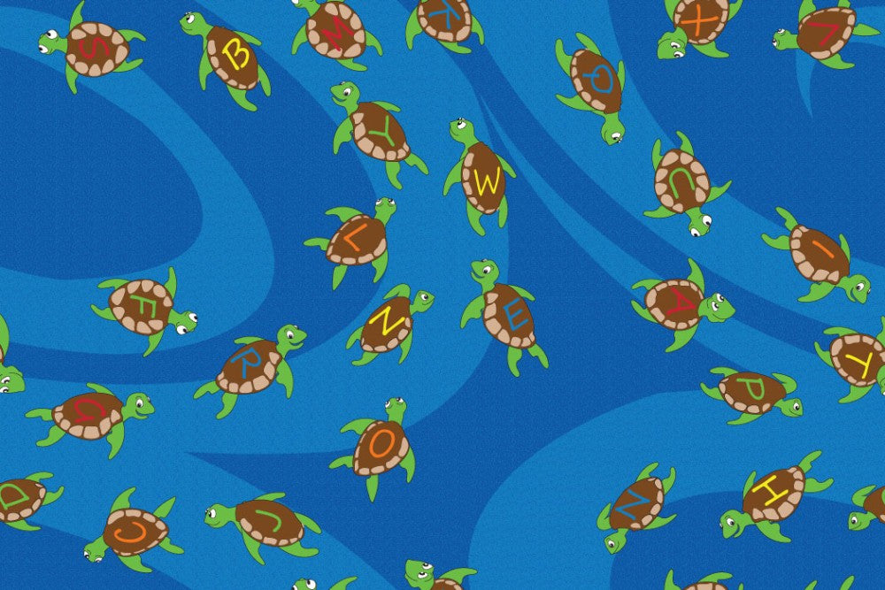 A-B-Sea Turtles Children's Rug - KidCarpet.com