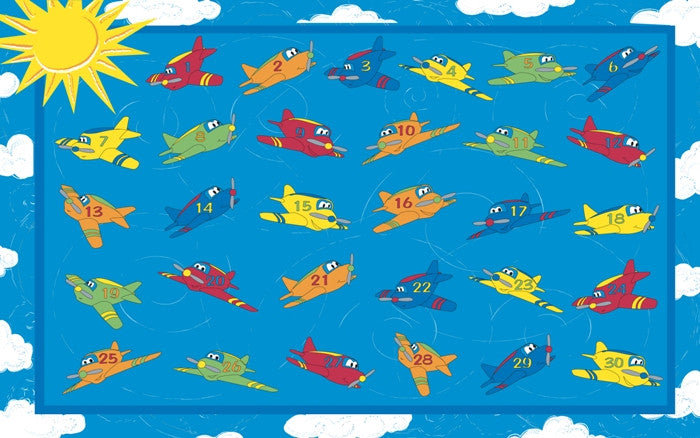 Through The Air Classroom Rug - KidCarpet.com