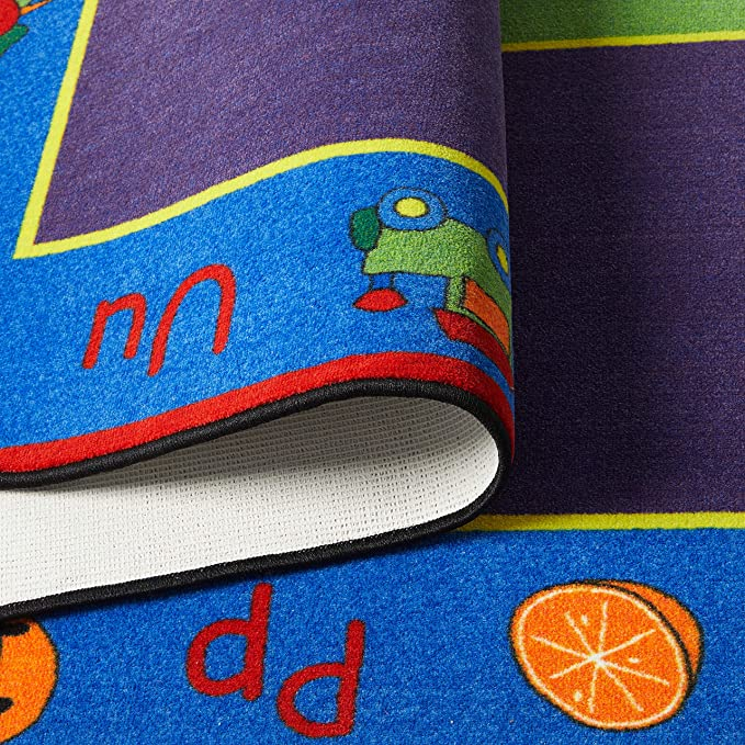 ABC Rainbow Seating Rug 30 - KidCarpet.com