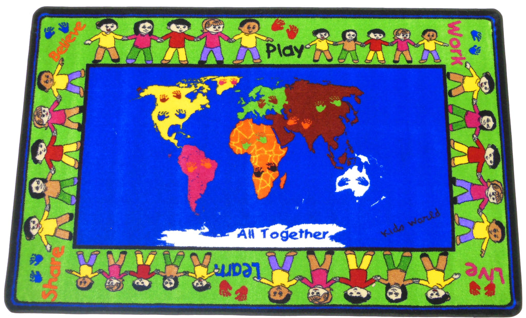 All Together Friendship Rug - KidCarpet.com