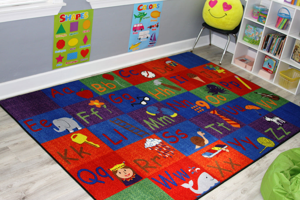 All In A Row Letter Rug - KidCarpet.com