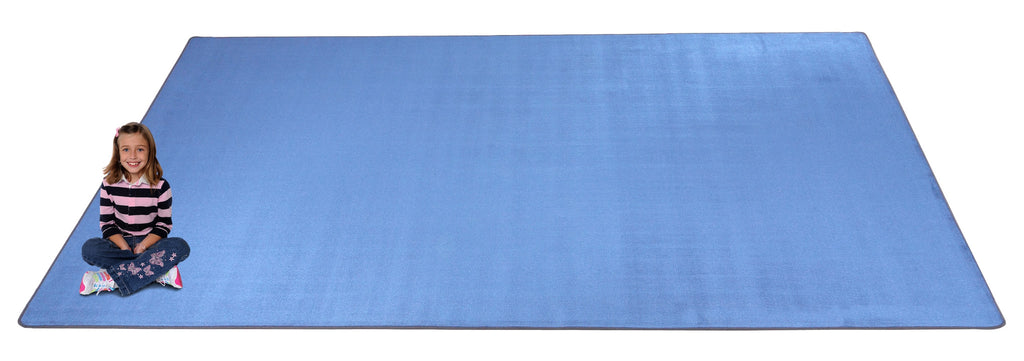 Kid-tastic Solid 30 oz. Light Blue Kids Rug