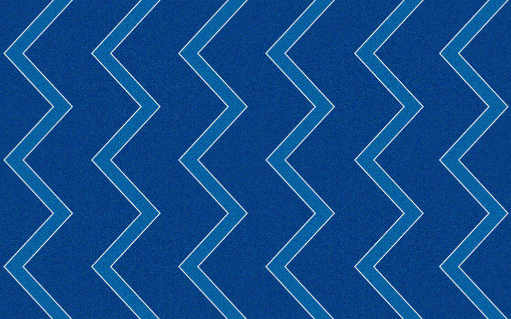 Chevron Kids Rug Blue on Blue - KidCarpet.com