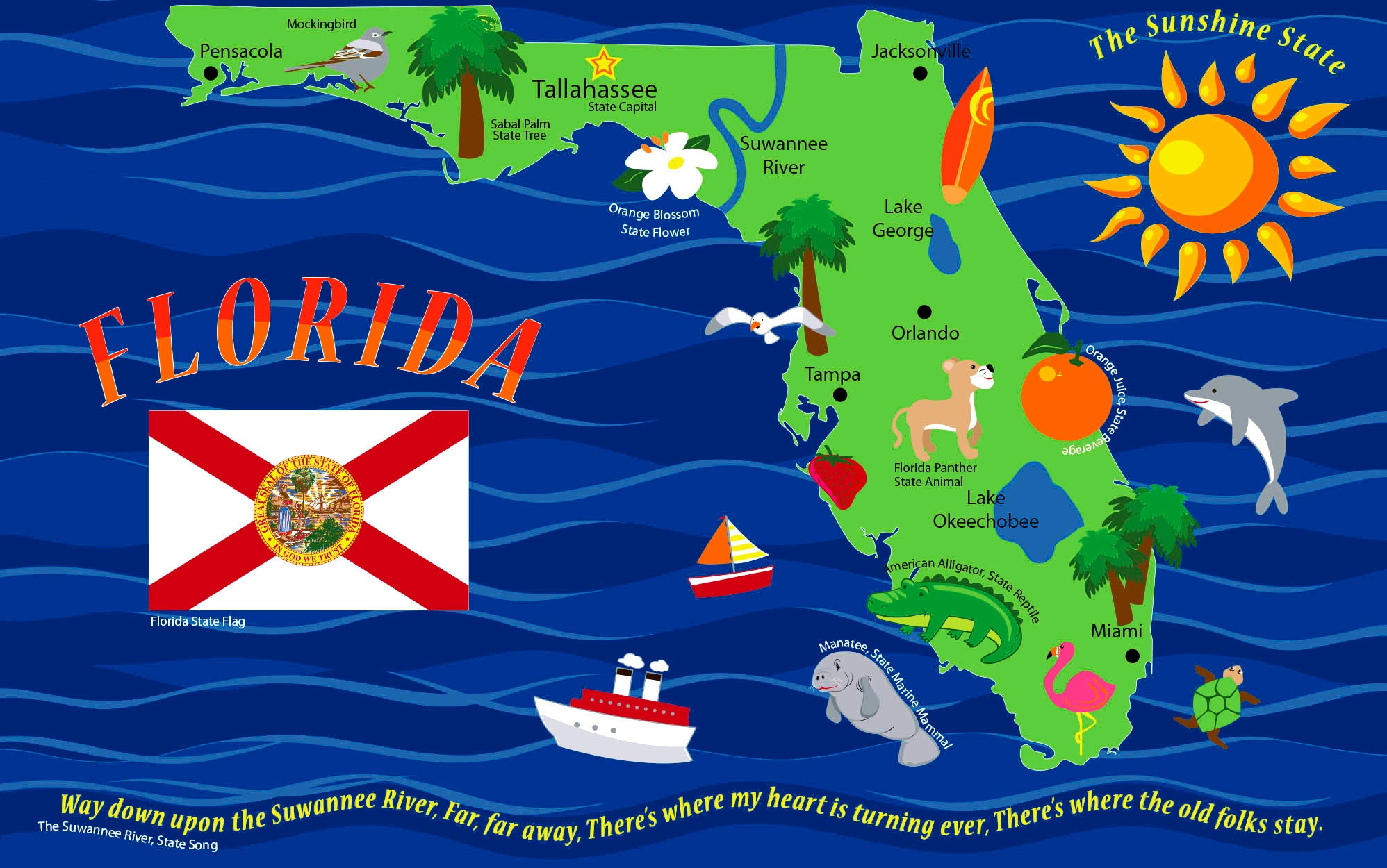 Map Of Florida Rug Kidcarpet Com