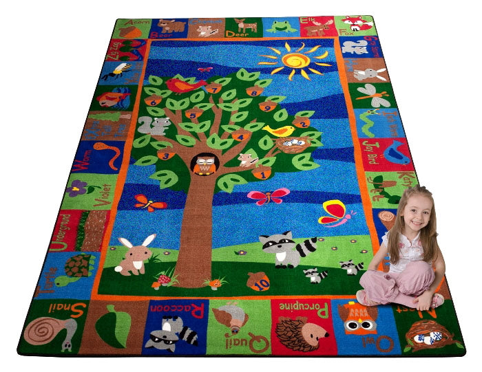 Forest Rug With Animal Alphabet