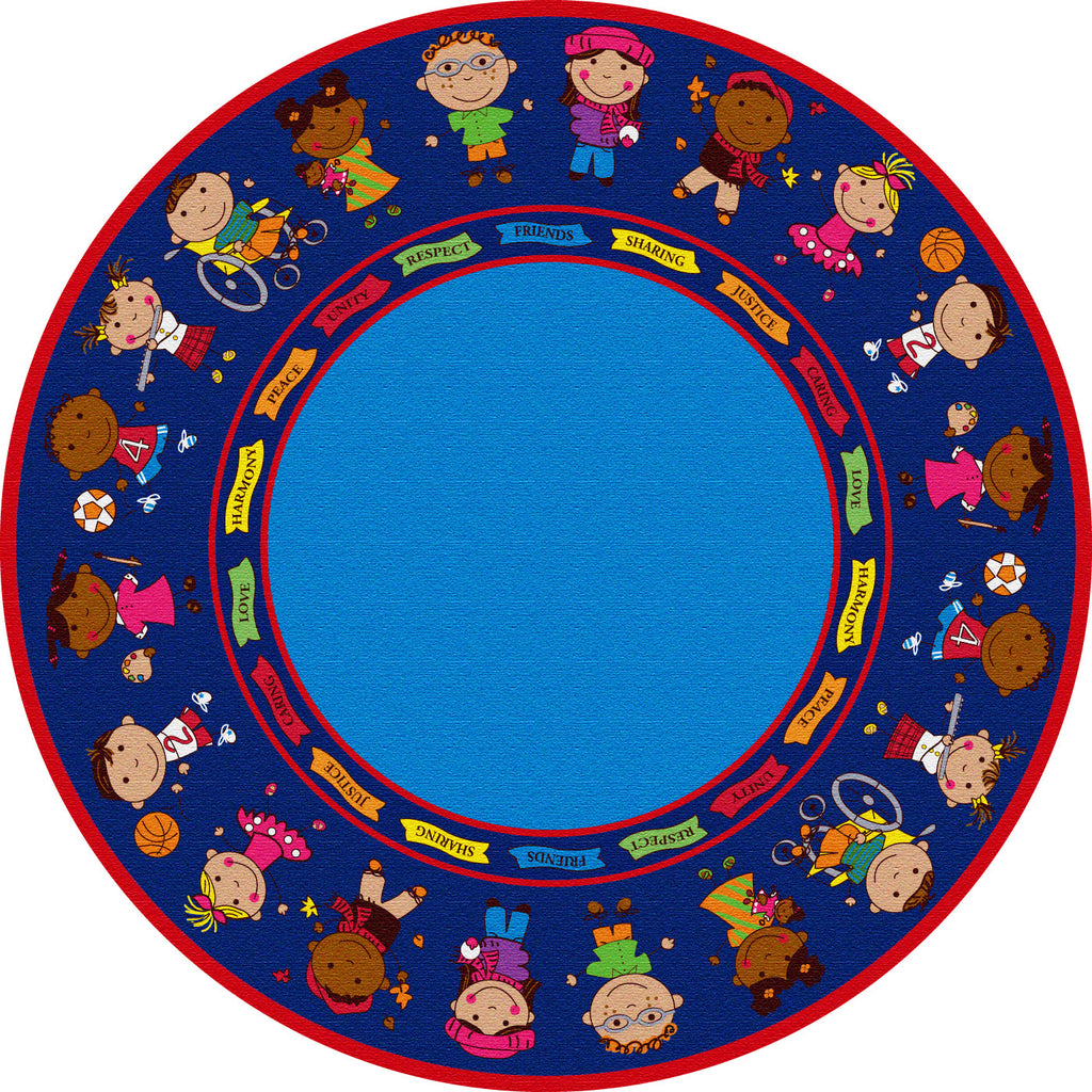 Friends Full Circle Rug - KidCarpet.com