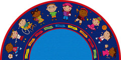 Friends Semicircle Rug
