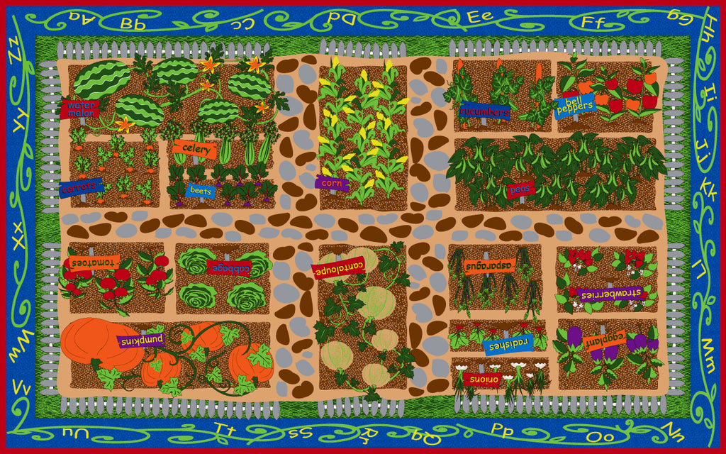 Garden of Good Health Rug - KidCarpet.com