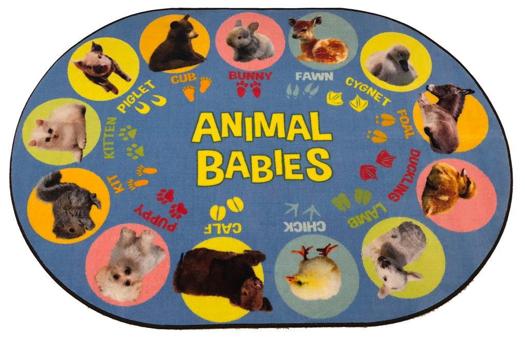 Animal Babies Preschool Rug - KidCarpet.com