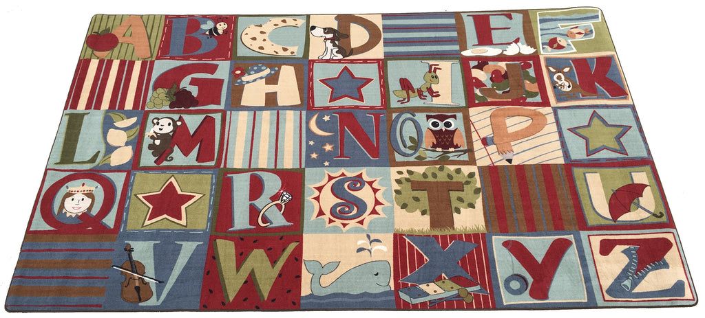 Alphabet Seating Rug Earth Tone