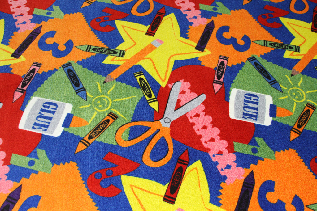 Arts and Crafts Children's Rug - KidCarpet.com