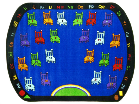 Chairs Classroom Rug With 22 Seats