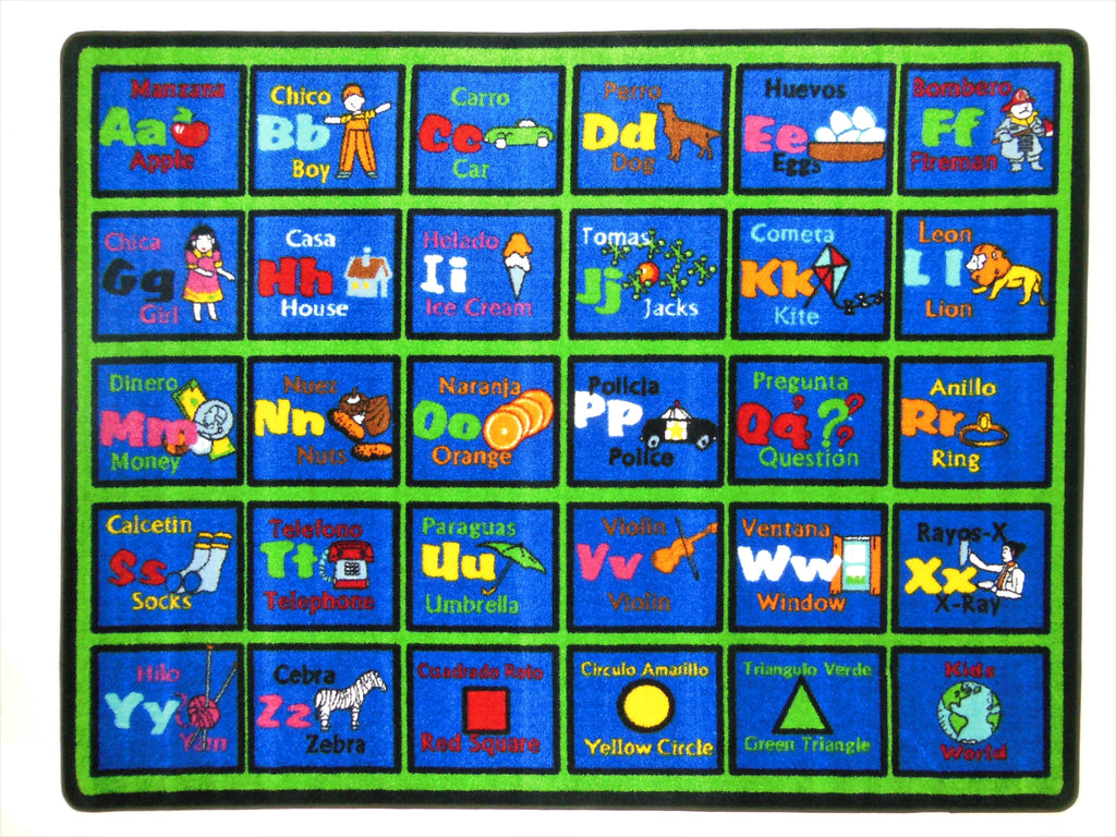 Learning Spanish Classroom Rug - KidCarpet.com