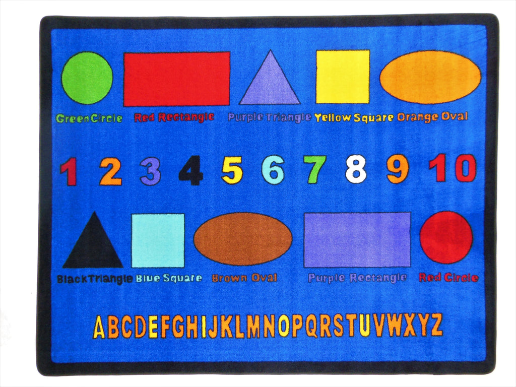 Alphabet Numbers and Shapes Rug - on backorder until approximately Oct 2020 - KidCarpet.com