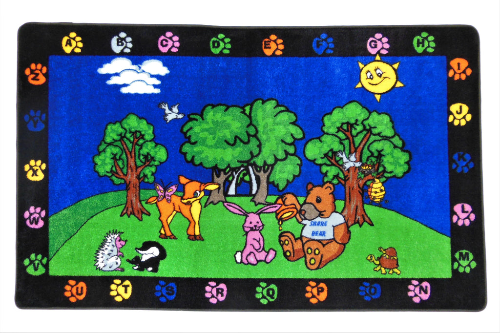 Share Bear Rug - KidCarpet.com