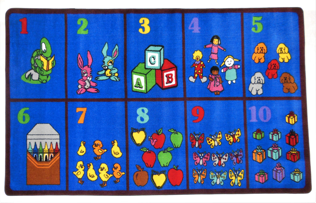 Count With Me Children's Rug - KidCarpet.com