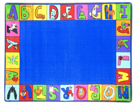 My ABC Squares Border Rug