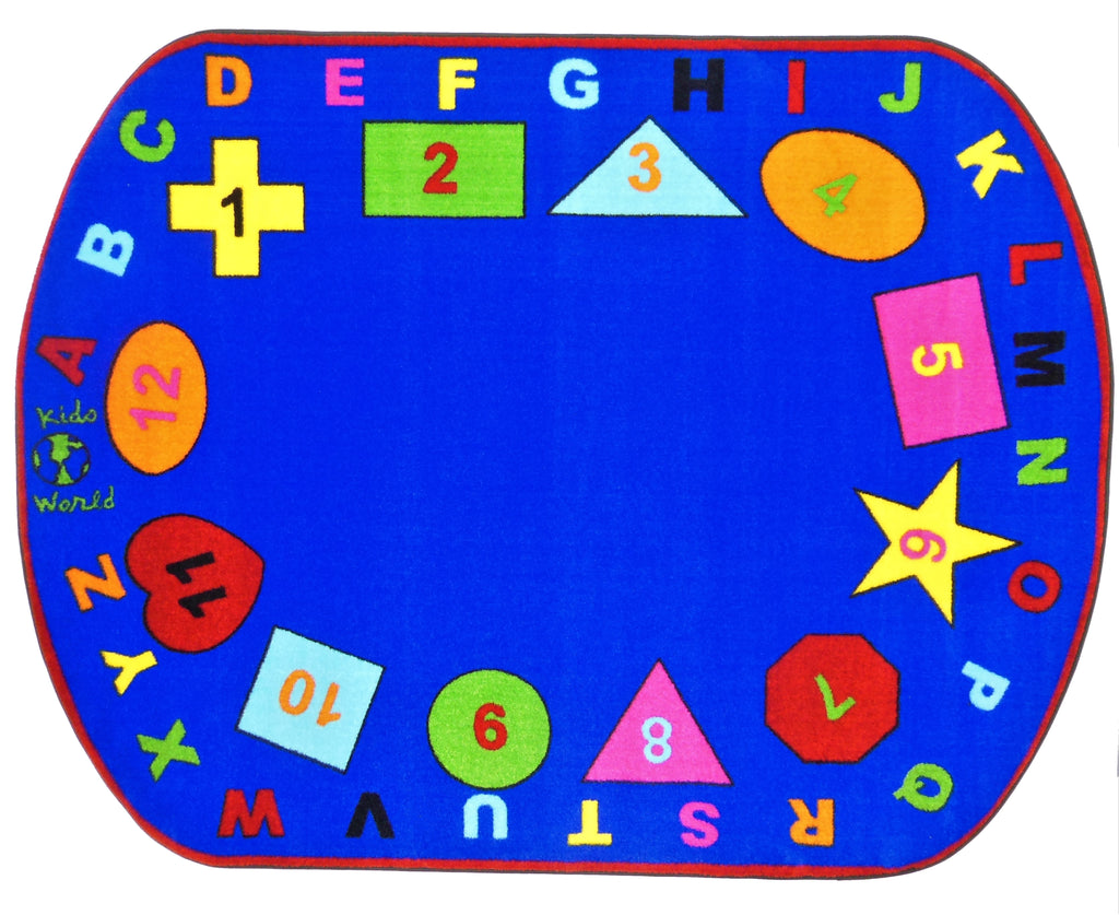 Preschool Shapes Rug With BRIGHT Colors - on backorder until approximately March 2021 - KidCarpet.com