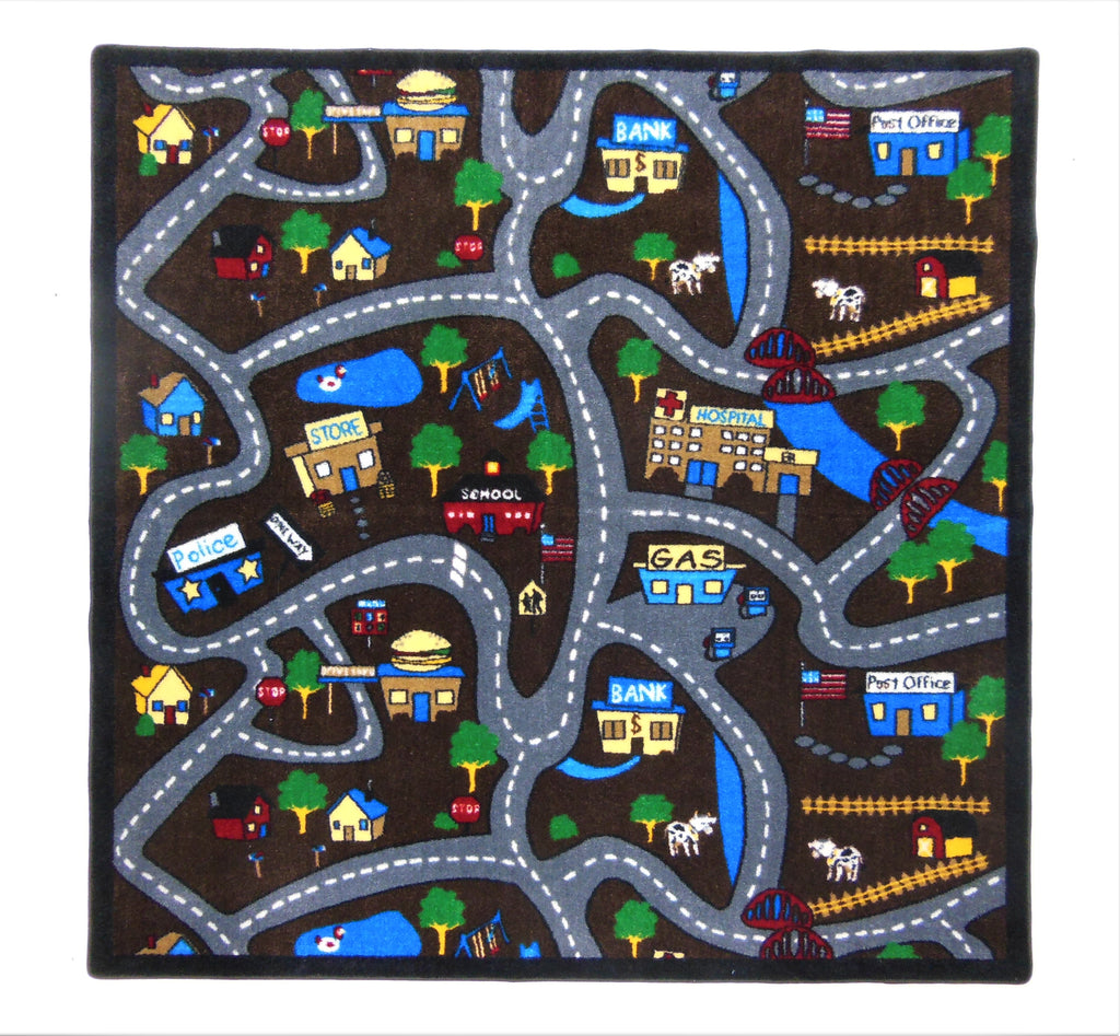 Country Roads Rug - KidCarpet.com